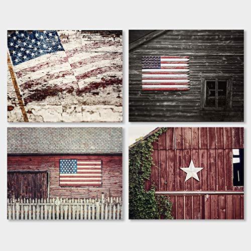 Rustic Americana UNFRAMED Set of 4 5x7