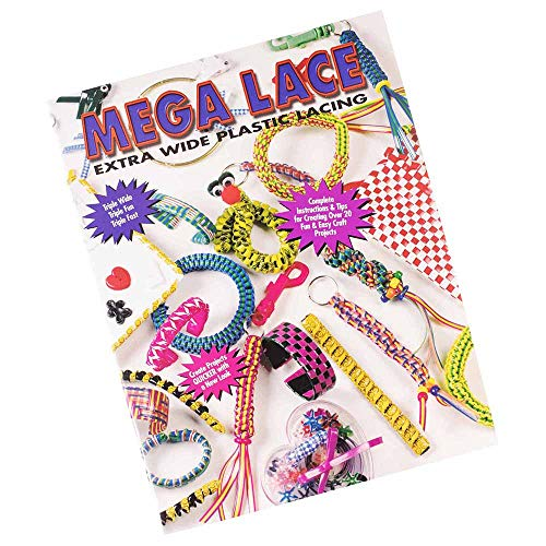 WEST COAST PARACORD Mega Lace Extra Wide Plastic Lacing Crafting Book - Guide for Keychains, Bracelets, Necklaces and ()