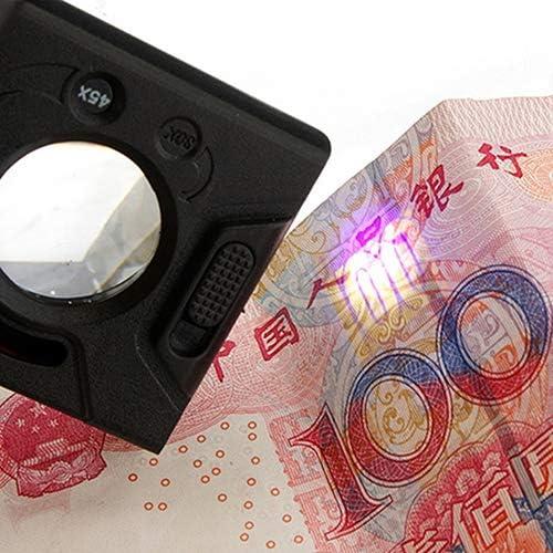 30/x 45/x 60/x gioielliere lente di ingrandimento LED UV illuminato lente di ingrandimento loop lente d ingrandimento per la lettura di gioielli valutazione illuminazione e valuta rilevazione Qingsb