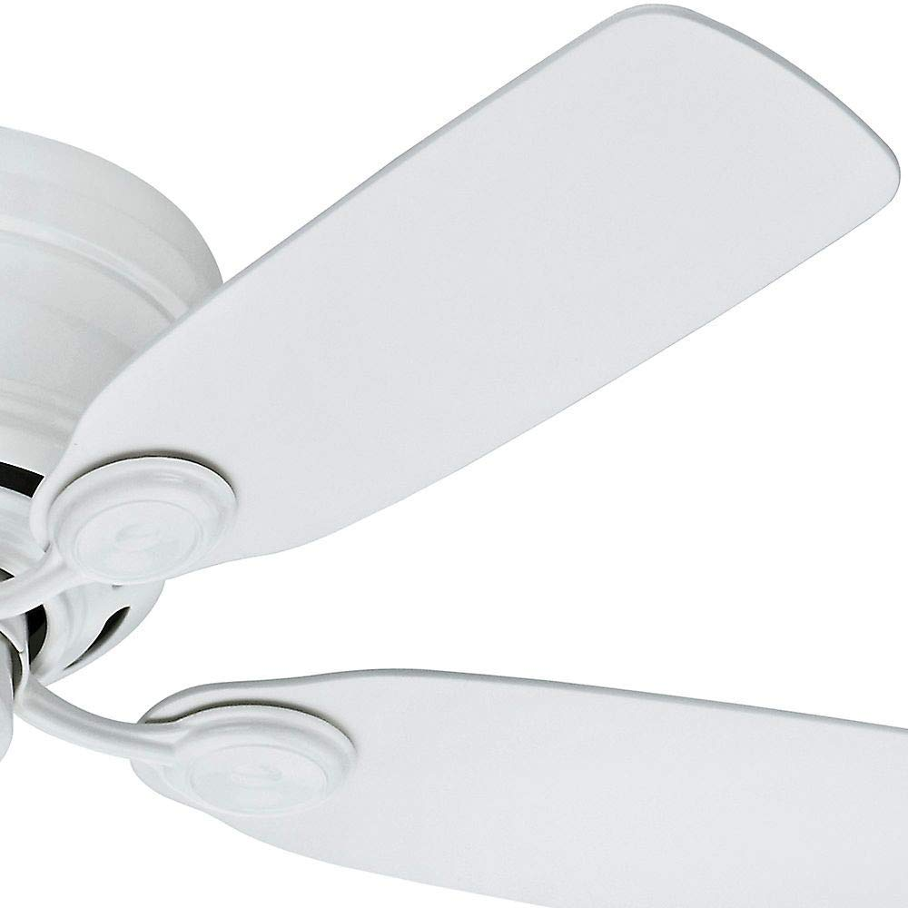Hunter Indoor Low Profile IV Ceiling Fan, with pull chain control -  42 inch, White, 51059 by Hunter Fan Company (Image #4)