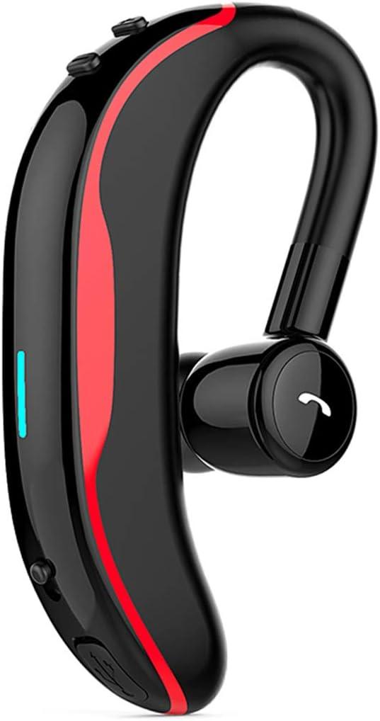 YHML Auricular Manos Libres Bluetooth,Tiempo de reproducción de 6 Horas,Inalámbrico Auricular de Earbud 12g, con el micrófono, Solo oído, para el móvil/la Tableta,Gray
