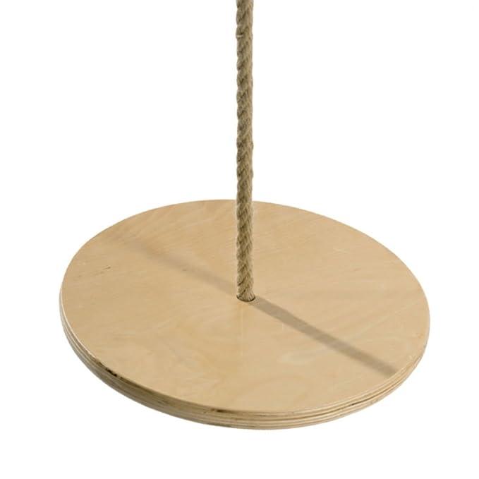 Balançoire disque en bois