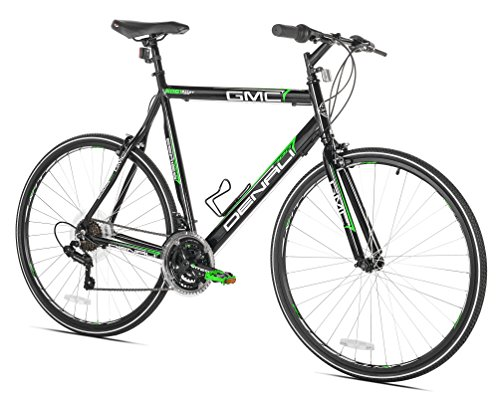 Gmc Kent Road Denali Bike (GMC Denali Flat Bar Road Bike, 25-Inch/63.5cm/X-Large, Black/Green)