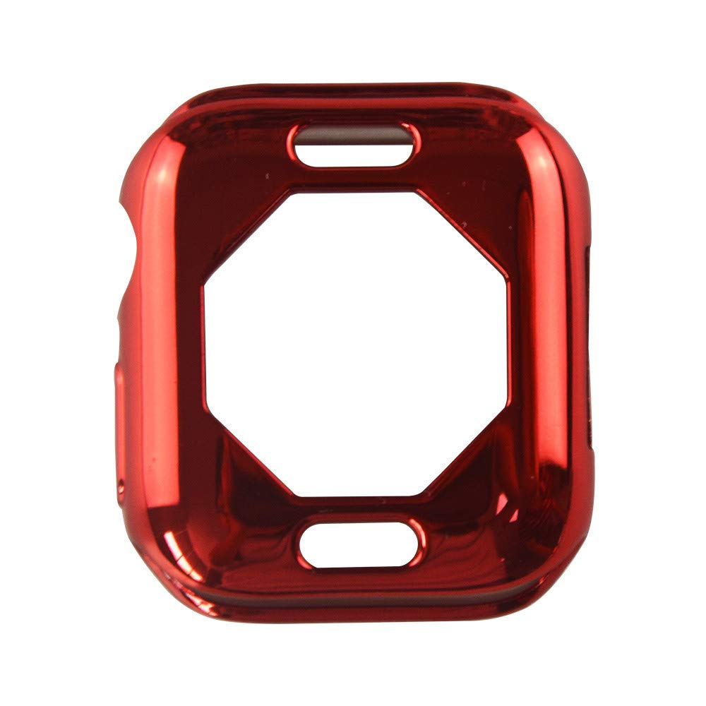 iumei Apple Watch Serie 4 Smart Watch Protection Frame, Fashion Quick Release Soft Sport Plating Ultra-Slim Protected Case Cover for Apple Watch Series 4 40mm (Red)