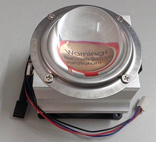 Led World 66mm led lens+ Aluminium HeatSink Cooling Fan for 20W-50W High Power Led by Led World