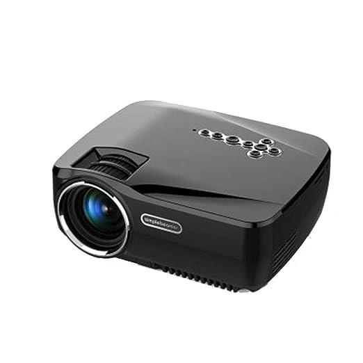RU Mini proyector portátil proyector, LED 1080p Proyección HD ...