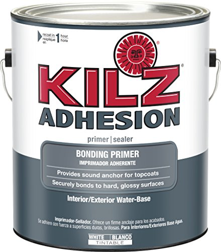 - KILZ L211101 Adhesion High-Bonding Interior Latex Primer/Sealer, White, 1-Gallon, 1 Gallon, 4 l