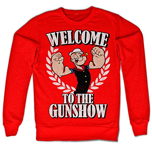 Popeye - Welcome To The Gunshow Sweatshirt (Red)