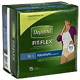 Depend Underwear for Women, Maximum, X-Large, 15 Count
