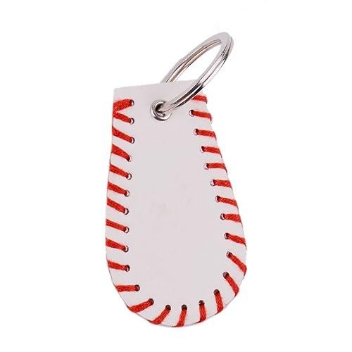 Amazon.com: L & N rainbery llavero de piel Deportes Béisbol ...