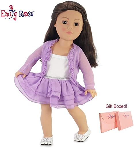 Bright Pink Plush Shrug Jacket with Bow for 18 inch American Girl Doll Clothes