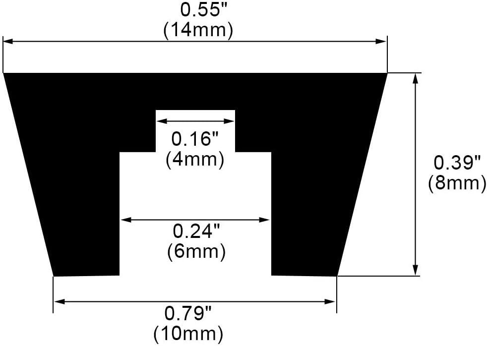 sourcing map 10/St/ück 14/mm x 8/mm Konischer Einbauleuchten Gummif/ü/ße Sto/ßstangen Bez/üge de