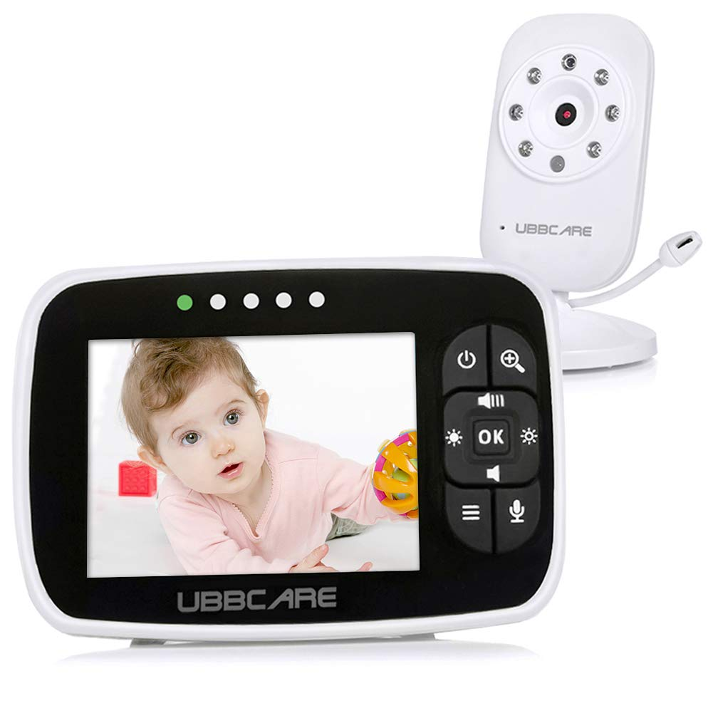 Home Video Baby Monitors with Camera and Audio 3.5 Large LCD Screen Night Vision Two Way Talk Monitoring System Baby Monitor Baby Shower Gifts