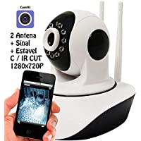 Camera Ip 1.3 Mp Alta Resolução Hd 720 P2p Noturna Wireless Ip03+