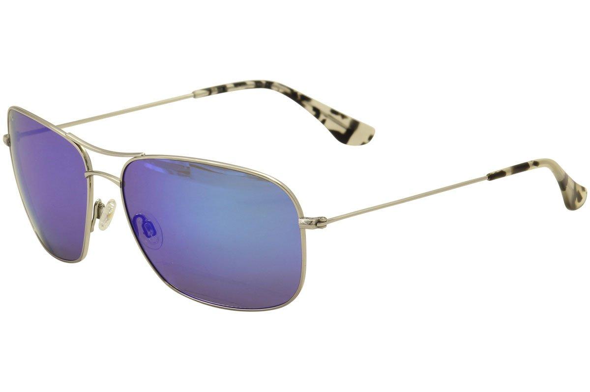 Maui Jim Sunglasses Silver Shiny/Blue Titanium - Polarized - 63mm