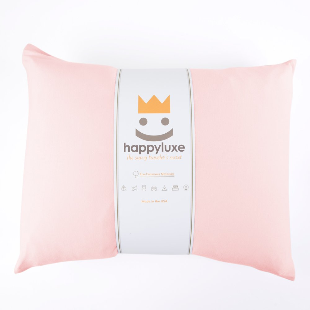 Happyluxe Odyssey Travel Pillow, Soft and Luxurious, Hypoallergenic, This Pillow is Bigger than most Airline Pillows, 18