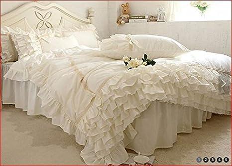 Letti Matrimoniali Shabby Chic : Shabby chic isabelle biancheria letto set matrimoniale beige