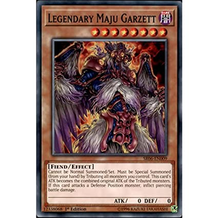 YuGiOh Legendary Maju Garzett 1st Edition Near Mint Common SR06-EN009