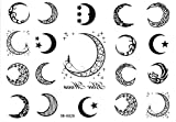 Moon Tattoo Stickers 19style Totem Temporary Tattoos Star Tattoo Stickers