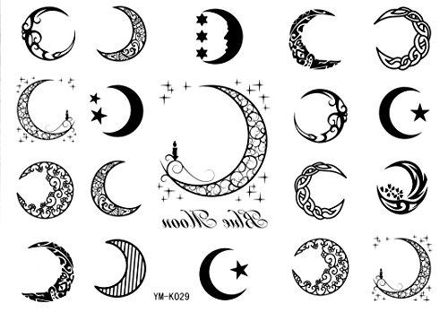 Moon Tattoo - Moon Tattoo Stickers 19style Totem Temporary Tattoos Star Tattoo Stickers