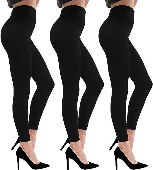New Women FLEECE LINED HIGH WAIST Thermal  Leggings small-medium one size