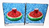 Ashland Large Watermelon Floating Inflatable Drink Can Holder Swimming Pool, Beach, Lake, 2 Pack