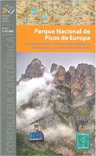 Picos de Europa National Park 1:40.000 set of 2 topographic hiking ...