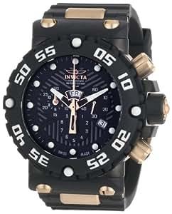 Invicta 0655 - Reloj cronógrafo de caballero de cuarzo con correa de goma negra