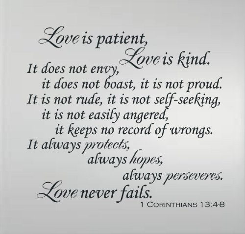 Image result for 1 corinthians 13 4-8