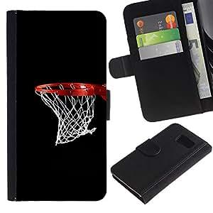 Baloncesto neto del aro - la tarjeta de Crédito Slots PU Funda de cuero Monedero caso cubierta de piel Para Sony Xperia Z3 Compact / Z3 Mini (Not Z3)