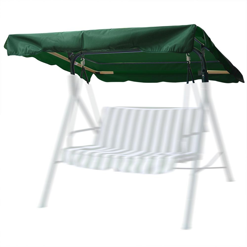 Yescom 72 1/2'' x 53 1/2'' Outdoor Swing Canopy Replacement UV30+ 180gsm Top Cover for Park Seat Patio Yard Green