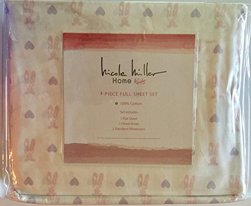 50off Nicole Miller Home Kids 4 Piece Full Sheet Set Ballerina