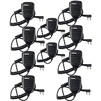Retevis 2 Pin Speaker Mic for Baofeng UV-5R BF-888S BF-F8HP Kenwood Retevis H-777 RT21 RT22 Walkie Talkies (10 Pack)