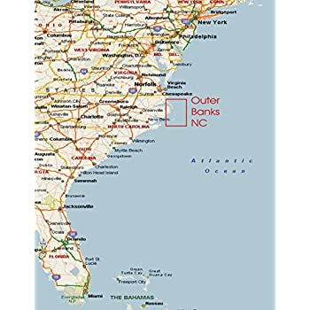 Amazon.com: Home Comforts Map - Us East Coast Map with ...