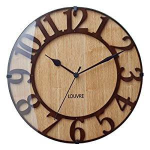 インターフォルム(INTERFORM INC.) 電波掛け時計 Musée -wood- - ミュゼ ウッド - CL-8333