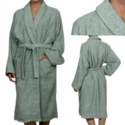 MARRIKAS Unisex LARGE Egyptian Cotton Quality SAGE ROBE - Marrikas Mens Robe