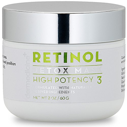 Retinol Detox High Potency Mask 3% Blend for Face | Natural