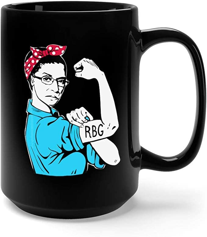 Amazon.com | Vintage RBG Mug, Rosie Riveter Mug, Ruth Bader Ginsburg Mug coffee mug: Coffee Cups & Mugs