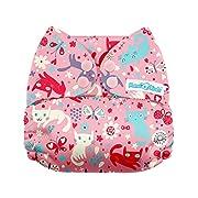 Mama Koala One Size Baby Washable Reusable Pocket Cloth Diaper (Kitties)