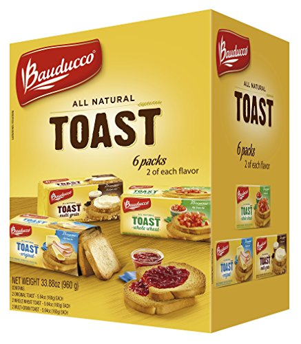 Bauducco Toast 6 Pack - Original, Whole Wheat & Multigrain (5.64oz each) - Melba Toast
