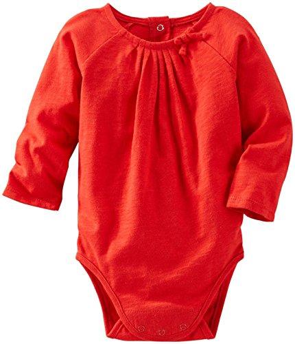 - OshKosh B'Gosh Baby Girls' Knit Bodysuit (Baby) - Red - 3 Months