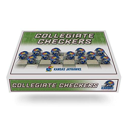 NCAA Kansas Jayhawks Miniature Helmets Checker Set