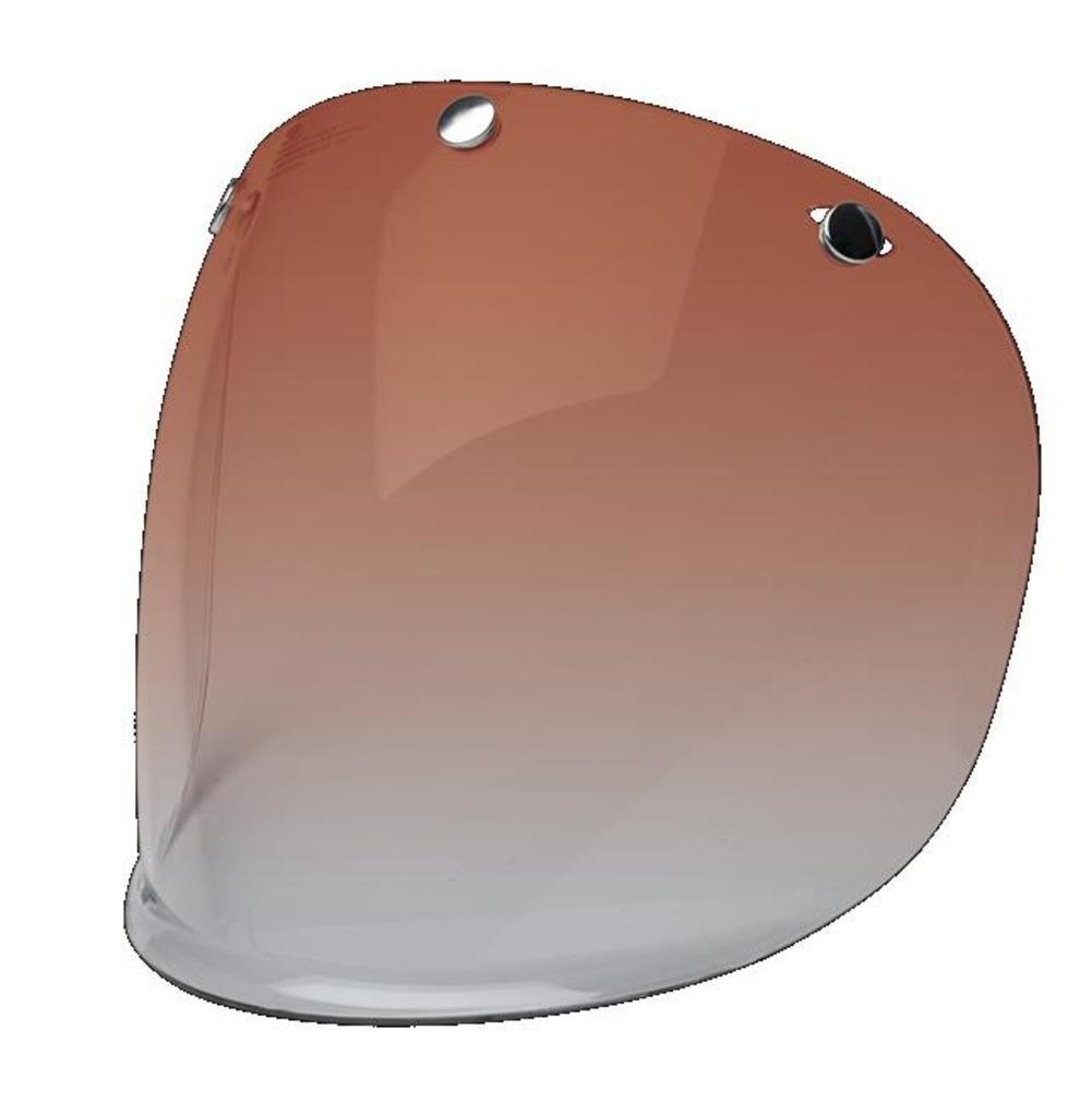 BELL 7084713/2024842 Custom 500 Retro 3-Snap Fixed Visor Amber Gradient