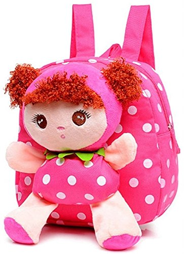 - Little-Sweet Cute Kids Toddler Backpack Plush Toy Backpack Snack Travel Bag Pre-School bags For Girls 1-5years (pink)