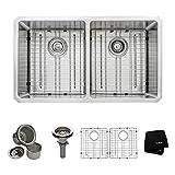 Kraus KHU102-33 33 inch Undermount 50/50 Double Bowl 16 gauge Stainless Steel Kitchen Sink