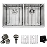 Kraus KHU102-33 33 inch Undermount 50/50 Double Bowl 16 gauge Stainless Steel Kitchen Sink