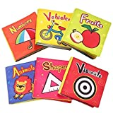 TOP BRIGHT Soft Cloth Books for Babies, Baby Toys 6 to 12 Months Girls, Crinkle Books for Infants Toy 1 Year Old (Pack of 6)