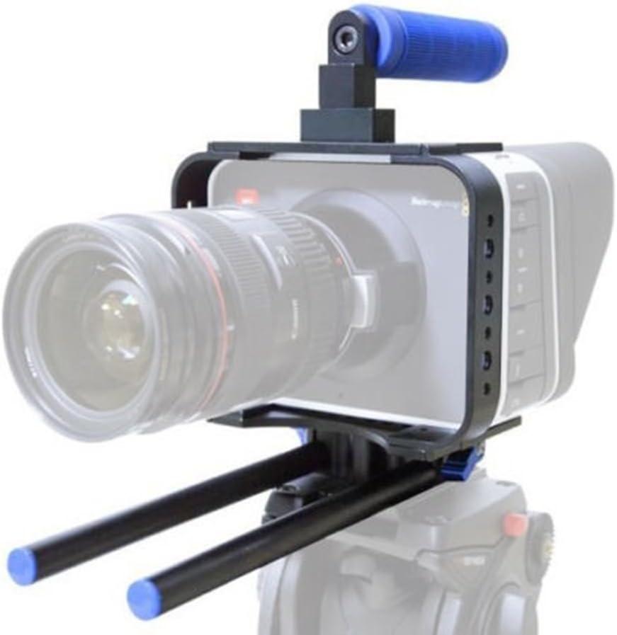 Cámara réflex digital 15mm caña de pescar Jaula para BMCC Rig para BMCC Blackmagic Cinema Camera C300C5005D25D3