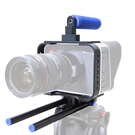 Cámara réflex digital 15 mm caña de pescar Jaula para BMCC Rig ...