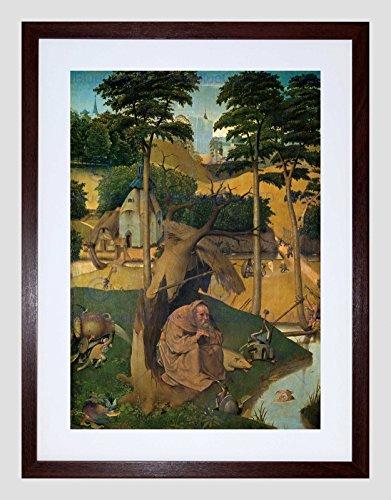 HIERONYMUS BOSCH TEMPTATION OF ST ANTHONY FRAMED ART PRINT MOUNT B12X396